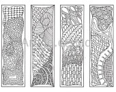 Zendoodle Bookmarks DIY, Zentangle Inspired Mother's Day Gift Idea, Printable Coloring, Digital Download, Sheet 2. $4.00, via Etsy.
