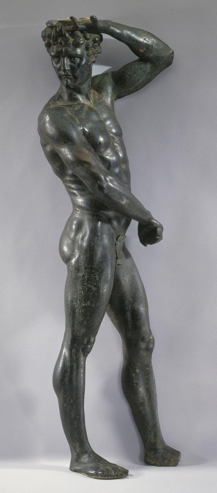 benvenuto cellini   Benvenuto Cellini (1500-70), Satyr, c. 1545. Bronze, 57.0 x 19.0 x 10 ...