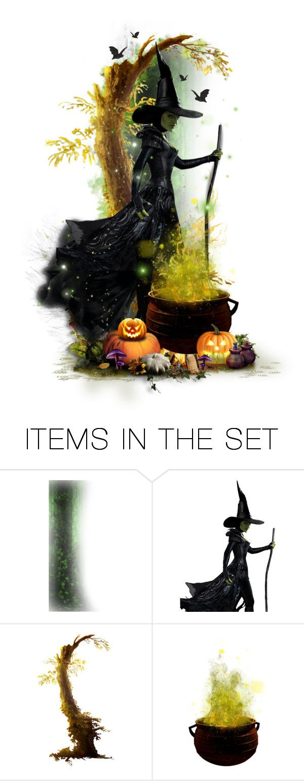 """""""Faces of October! - A Wicked Witch"""" by girlinthebigbox ❤ liked on Polyvore featuring art"""