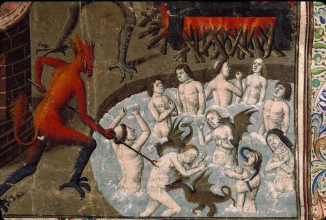 Devil's Cauldron. Liber Floridus. Bib. St Genevieve MS 0246 f 389