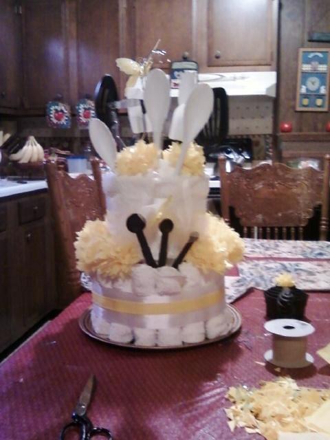 Towel Cake Made For Household Shower Bridal Shower Food