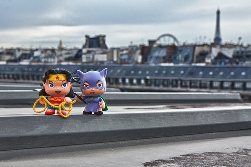 Wonder Woman and Catwoman travelling together