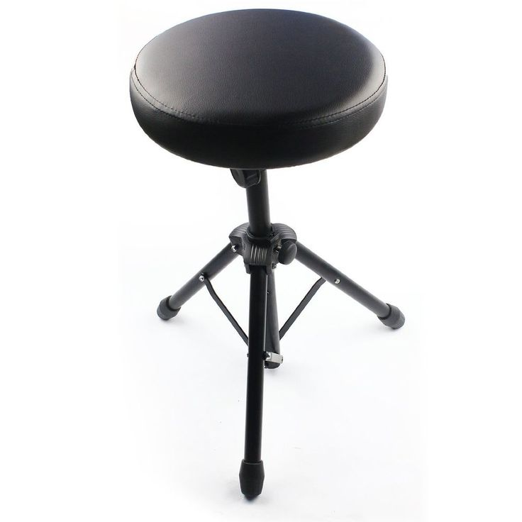 Drum Throne Padded Seat Drummers Stool Stand Chair Non-skid Percussion Hardware #DrumThrone