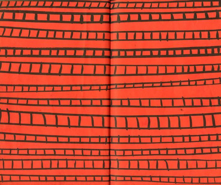 Puff by William Wondriska, 1960 - Train track endpapers.