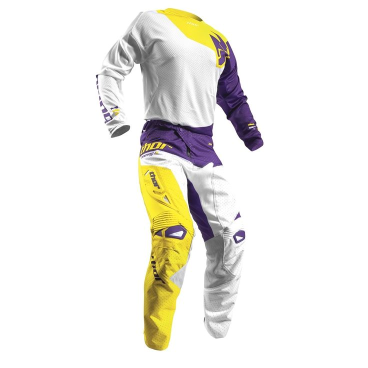 Thor 2017 Fuse Air Pinin Jersey Pants Package - White/Purple