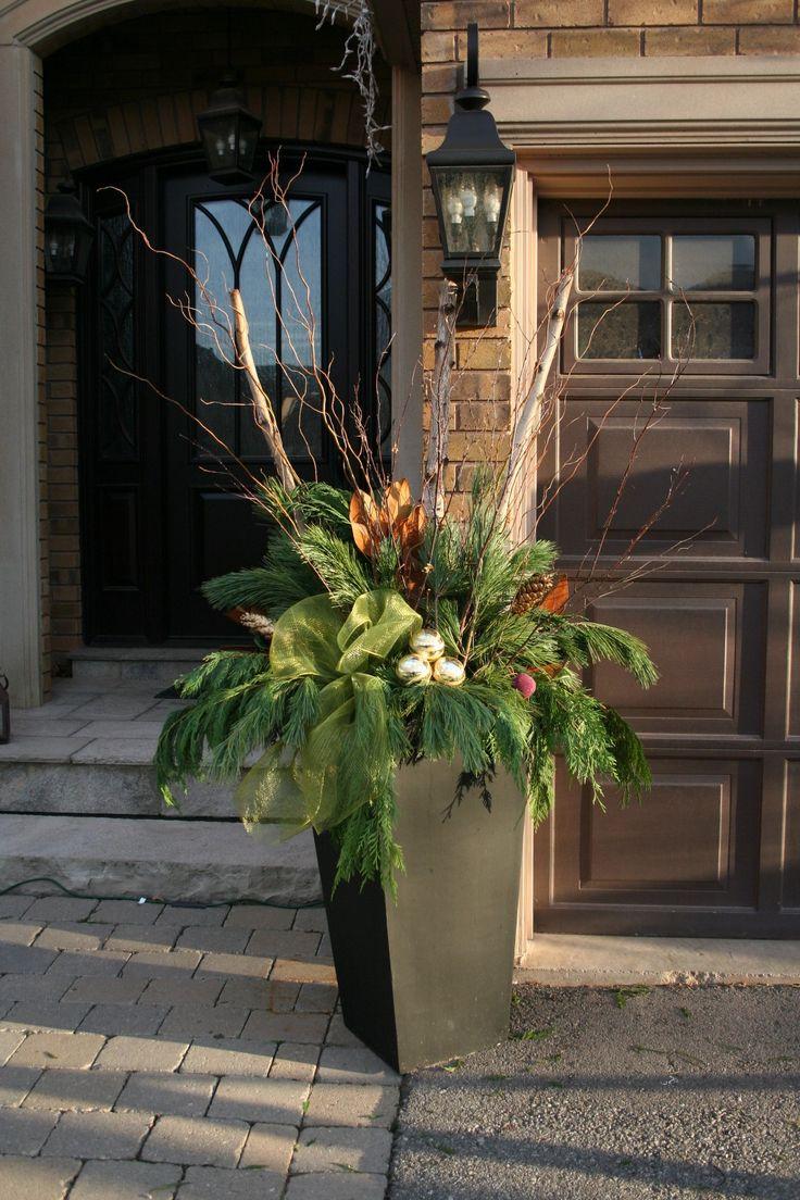 542 best Christmas Planter Decor images on Pinterest | Christmas ...