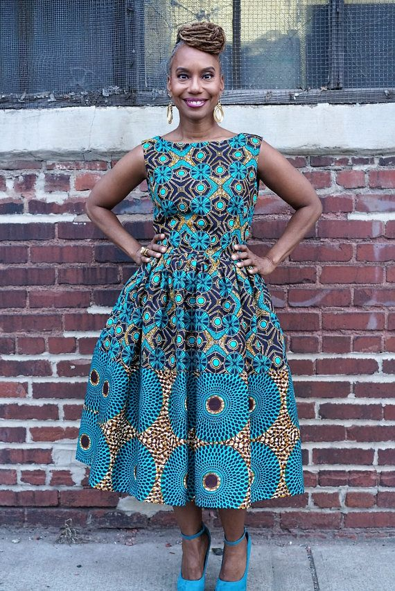 Remix Michelle o. robe faite d'africains Wax par LiLiCreations