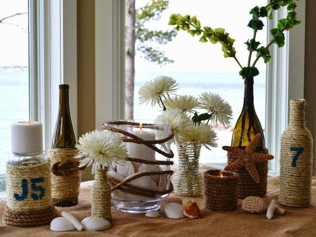 10 φανταστικές ιδέες για διακόσμηση με γυάλινα βάζα και μπουκάλια κρασιού