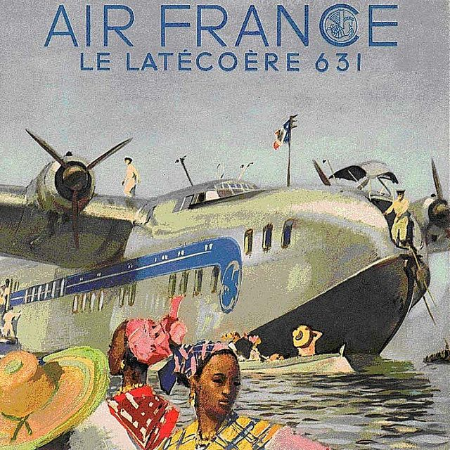 Air France Poster (Le Latécoère 631) by kitchener.lord, via Flickr