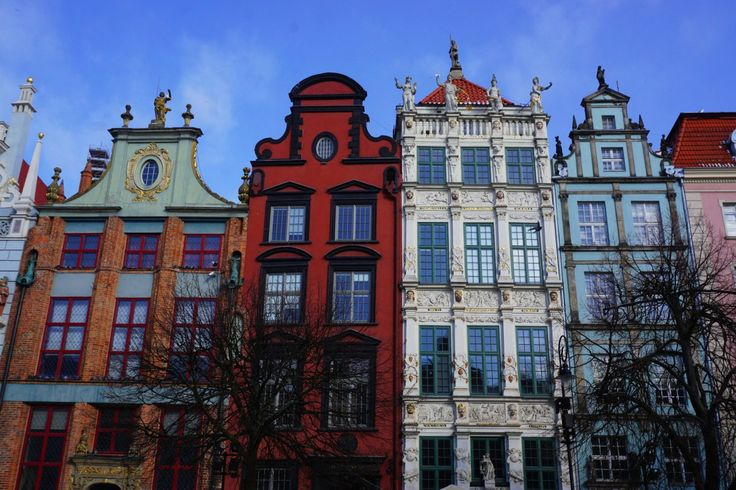 Colorful old houses in Gdańsk