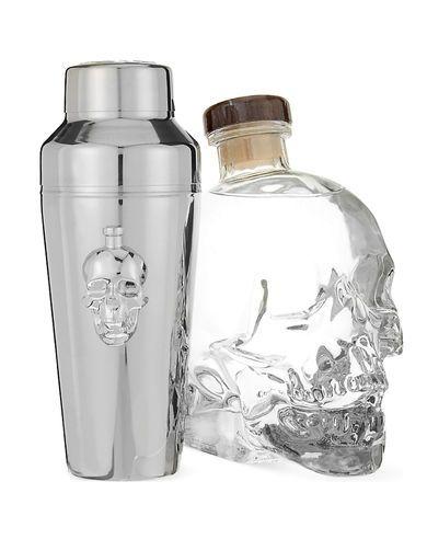 1 Coffret Vodka Crystal Head 40% 70cl + 1 Shaker