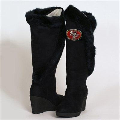 Cuce Shoes San Francisco 49ers Women's Cheerleader Boots - Black