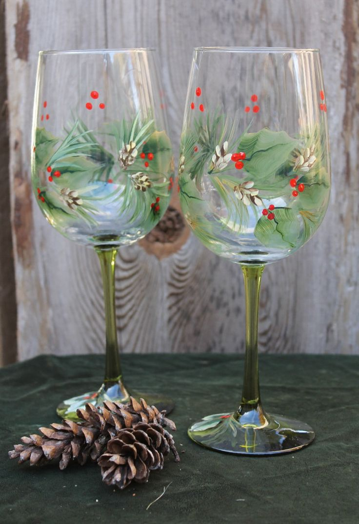 518 best images about holiday glass painting ideas on for Christmas painted wine glasses pinterest