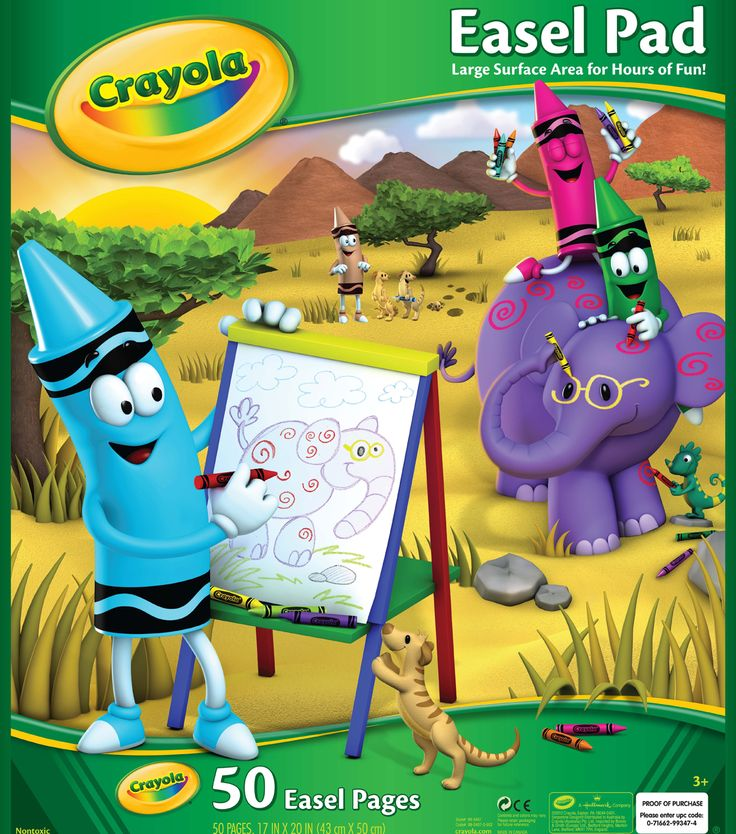 "Crayola Giant Easel Pad 17""X20"" - 50 Sheets"