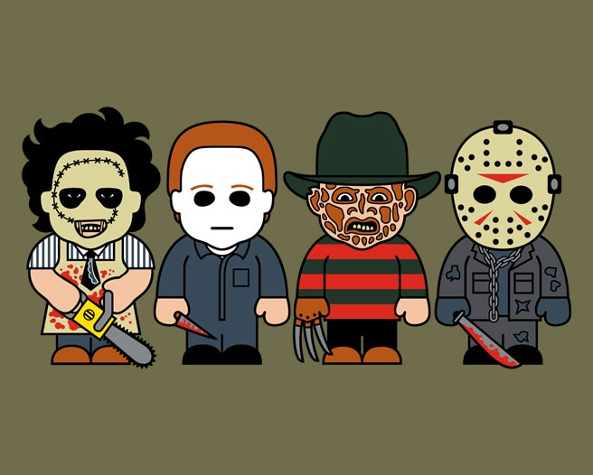 Horror icons shirt by Toonstar