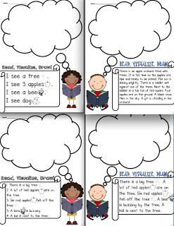Read, Visualize, Draw: Another Fun literacy center- freebie