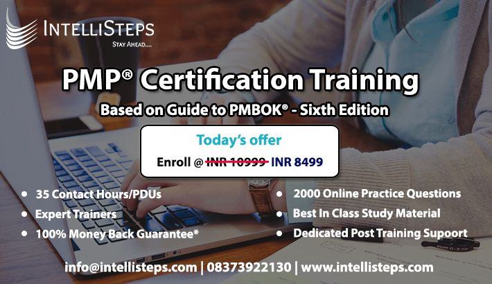 Enroll Now For Pmp Certification Training With Intellisteps Pass The Pmp Project Management Professional Project Management Certification Training Classes