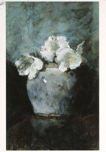 Jan Voerman - Witte azalea's in de pot Augustine - A5308 - Postcard