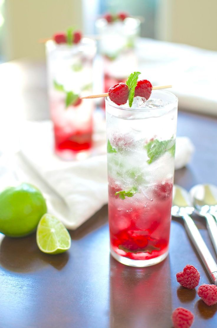 Raspberry Grapefruit Mojito Recipe   juice cocktail drink desserts syrup mint flavor rum captain morgan's