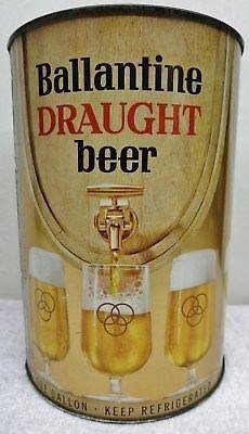 ballantine draught beer newark nj c 1955 gallon can cool beer