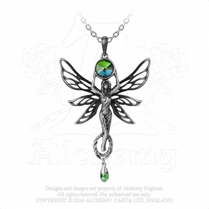 Kette mit Absinthe Fee Anhänger - The Green Goddess | VOODOOMANIACS