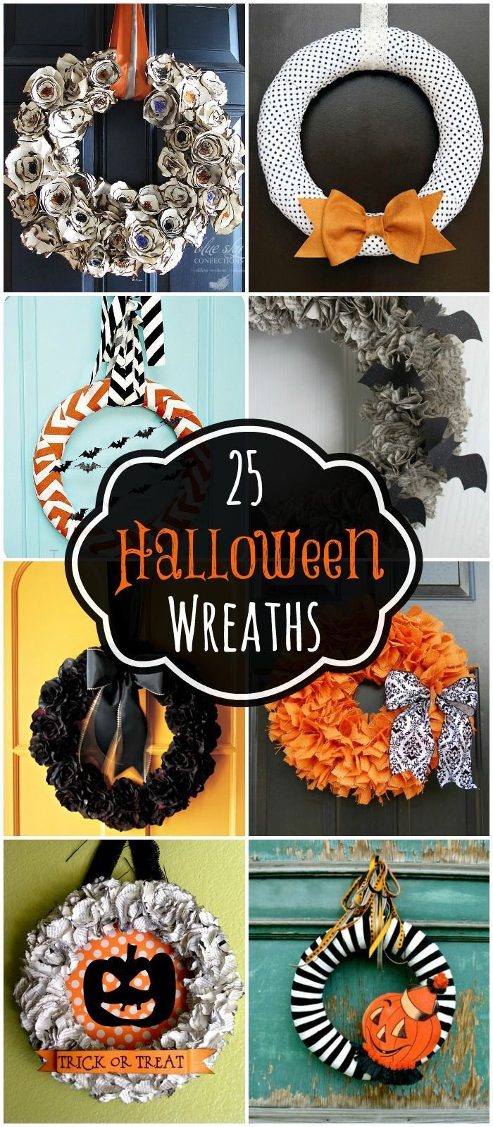 A collection of 25 Halloween wreaths to inspire you for your Halloween decor! { http://lilluna.com }