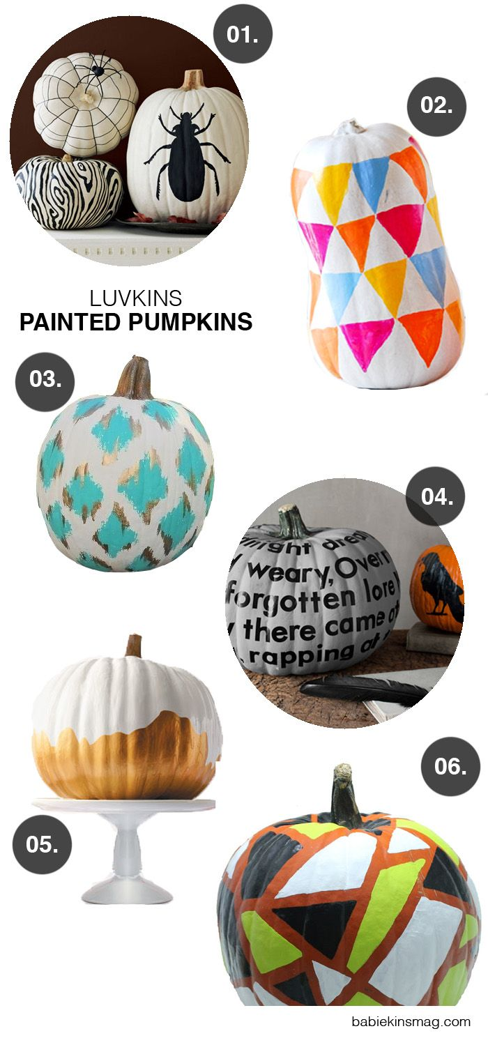 no need for knives scoops or carving tools this halloween give these no carve painted pumpkins a try and avoid any risk of injury to yourself or your