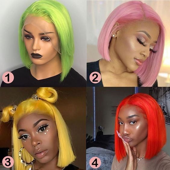 82 5 Colored Human Hair Wigs Bob Lace Front Wigs 12 Color Available Human Hair Wigs Virgin Hair Wigs Wig Hairstyles