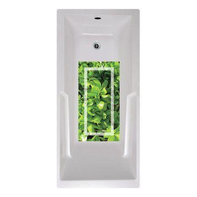No Slip Mat by Versatraction 14 x 27 Dolsen Green Tropic Bath Mat