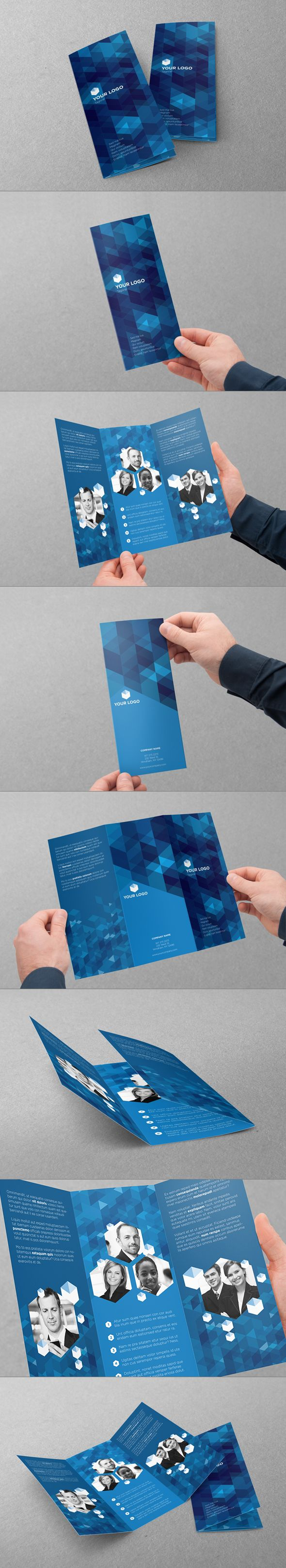 Trifold Design by Abra Design, via Behance #design #brochure #trifold