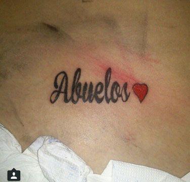 tatuajes dedicados a abuelos por siempre