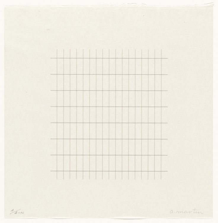Agnes Martin, Untitled from the portfolio On a Clear Day, 1973