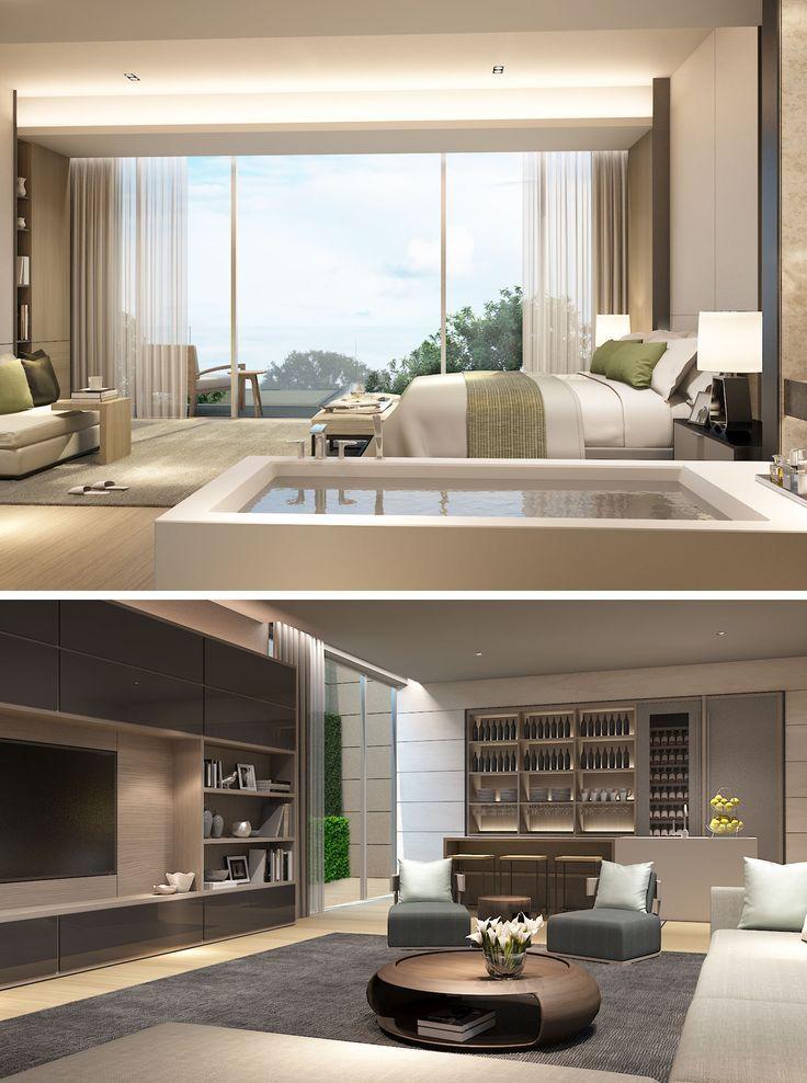 SCDA Mixed-Use Development Sanya, China- Show Villa (Type 3) Master Suite & Entertainment Lounge