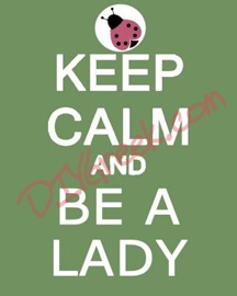 "Paint this on 8x10"" canvas (pack3). Use stencil (purchase separately for $3.99) for ""KEEP CALM AND"". Use stencil in supply sack for the lady bug. You can download art to trace for ""BE A LADY""."