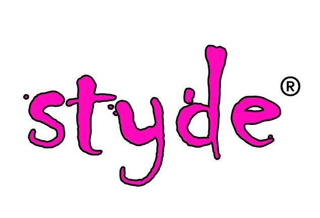 styde, logo, trademark, pink