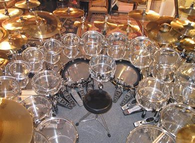 Rare big drum kits and obscure setups