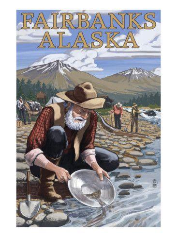 Gold Panner Mining Camp - Fairbanks, Alaska USA