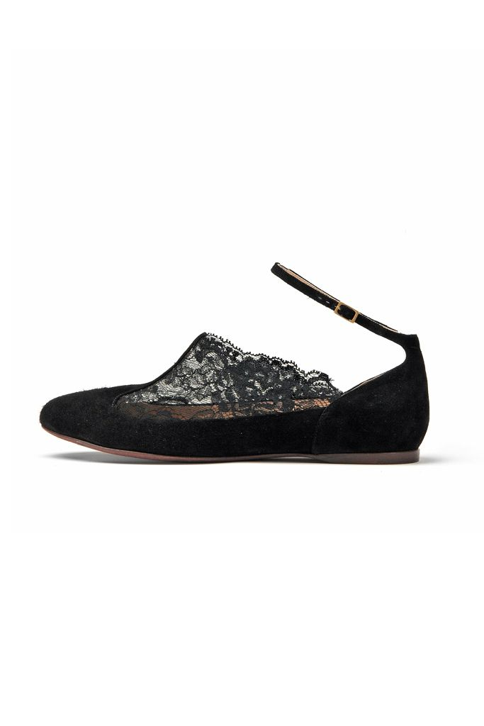 fall 2012, Nina Ricci, shoes, flats, black