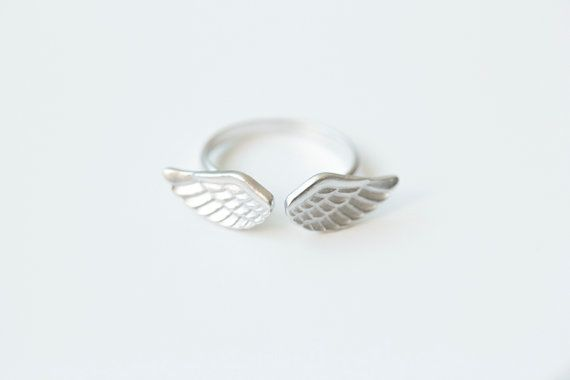 Icarus wing rings/unique rings/adjustable rings/knuckle ring/stretch rings/men ring/cool rings/couple rings/cute ring/fun rings on Etsy, $15.92 AUD