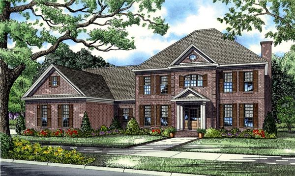 Colonial European Plantation House Plan 82126 Pinterest
