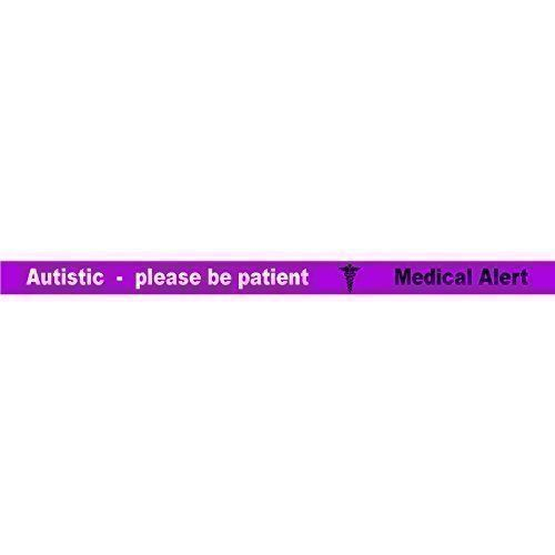 Autistisch Please Be Patient Armband (1 x Lila) 3 Farbiges Armband AUTISMUS Medizinischer Alarm ID Neu - 100% Silikon Ausweis Notfall Identität Gummi Permanente Tinte Blindgeprägte Bänder Fonfella Wristbands http://www.amazon.de/dp/B00IPJBTMQ/ref=cm_sw_r_pi_dp_bHLbxb1NPRKP4