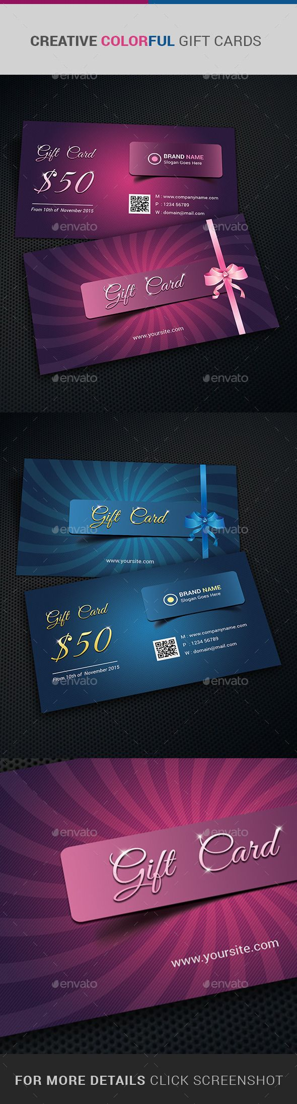 Gift Card Certificate Design-suitable for promoting any business, product or services. Company, retail store, super shop, super market or business, can offer this coupon/cashcard to contain or regain their existing customers. Download http://graphicriver.net/item/gift-card-certificate/10982238?ref=themedevisers