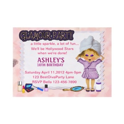 Kids Glam Party -  What little girls wouldn't love a glamour or spa party? Do their nails, hair and makeup