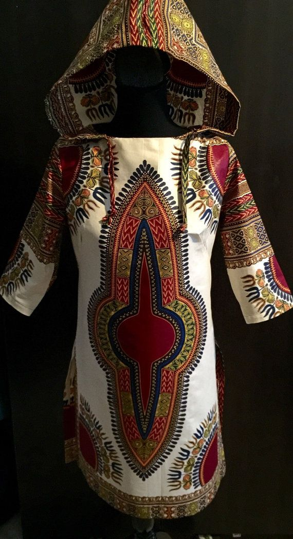 African dress african dashiki dress african print by BurgundybyPK
