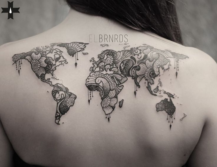 All the world, done by resident artist El Bernardes at Giahi Tattoo & Piercing, Löwenstrasse 22.