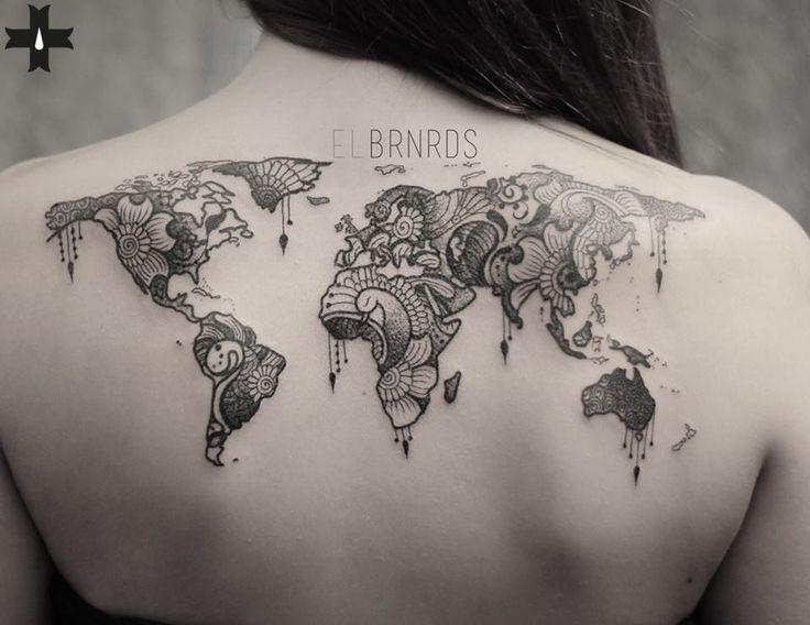 All the world, done by resident artist El Bernardes at Giahi Tattoo & Piercing, Löwenstrasse 22.