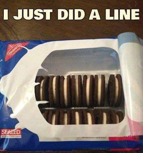 i just did a line, Oreos,meme