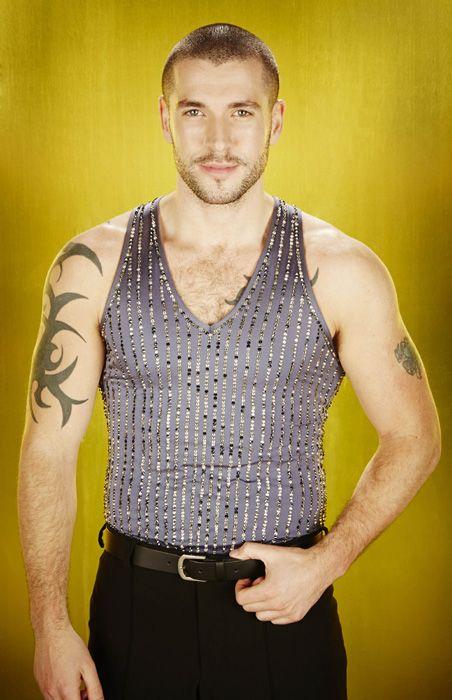 Shayne Ward posing before his 'Dancing on Ice' debut