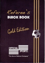 Now just what goes in a Referee's Little Black Book???