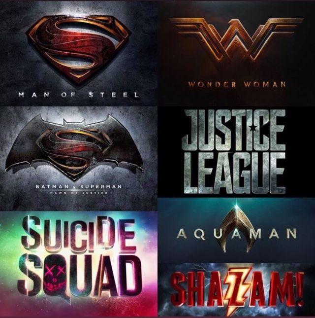 Official Dcu Movie Logos Marvel Merchandise Justice League Aquaman Marvel